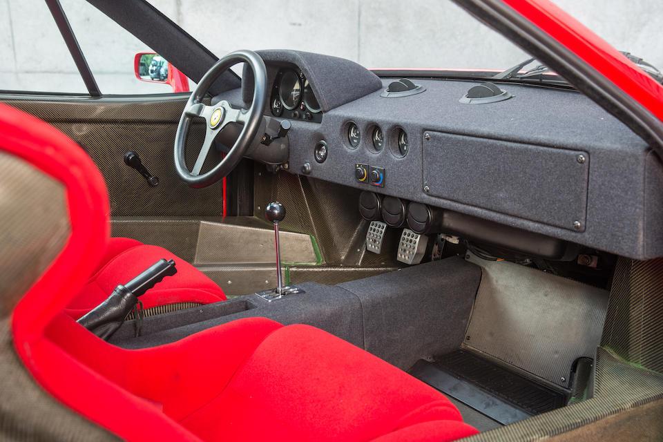 1989 Ferrari F40 Berlinetta  Chassis no. ZFFGJ34B000080747