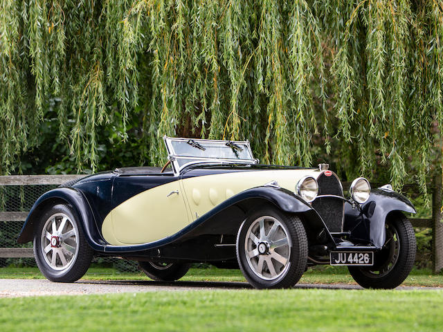 Owned for over 55 years by the legendary British Bugatti connoisseur, the late Geoffrey St John The ex-Guy Bouriat/Louis Chiron 1931 Le Mans 24-Hour race, works-entered ,1931 Bugatti Type 55 Roadster  Chassis no. 55221