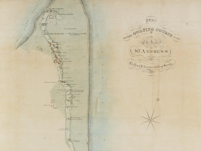 Plan Of the golfing course  over the links of St. Andrews Surveyed by W & J Chalmers, 1836