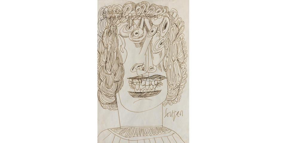 Francis Newton Souza (India, 1924-2002) Ghoul