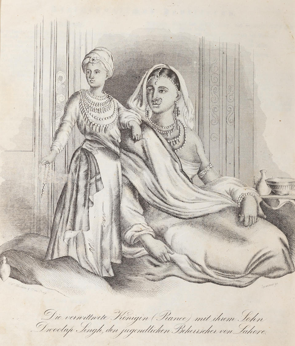 Two prints relating to Duleep Singh: the submission of the eight year-old Maharajah before the Governor-General, Sir Henry Hardinge, 19th February 1846 London, circa 1846(2)