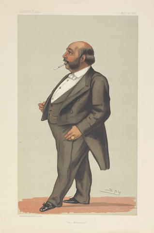 'The Maharajah': a cartoon of Duleep Singh, by 'Spy' (Sir Leslie Ward, 1851-1922), from Vanity Fair the original issue 18th November 1882