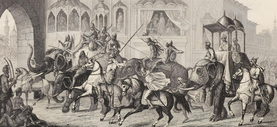 Three engravings relating to Lahore Paris and London, second half of the 19th Century(3)