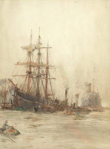 Charles Edward Dixon (British, 1872-1934) Blackwall on Thames