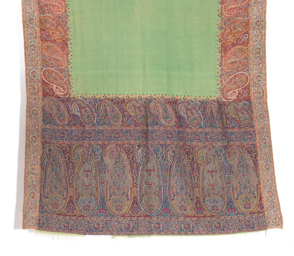 A woven wool shawl Kashmir, circa 1820