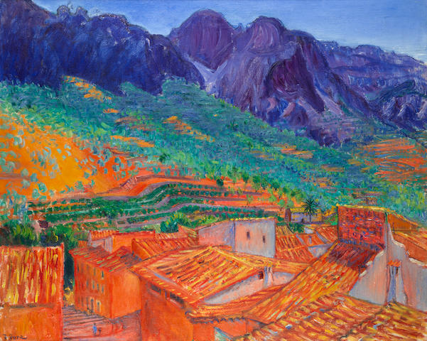 Frederick Gore C.B.E., R.A. (British, 1913-2009) The Roofs of Fornalutx, Majorca