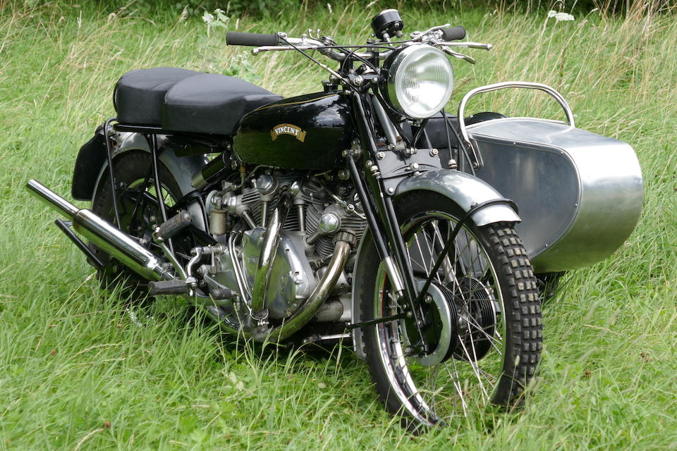 1950 Vincent 998cc Rapide Trials Motorcycle Combination (see text) Frame no. RC/1/6668 Rear frame no. RC9639/C Engine no. F10AB/1/5610
