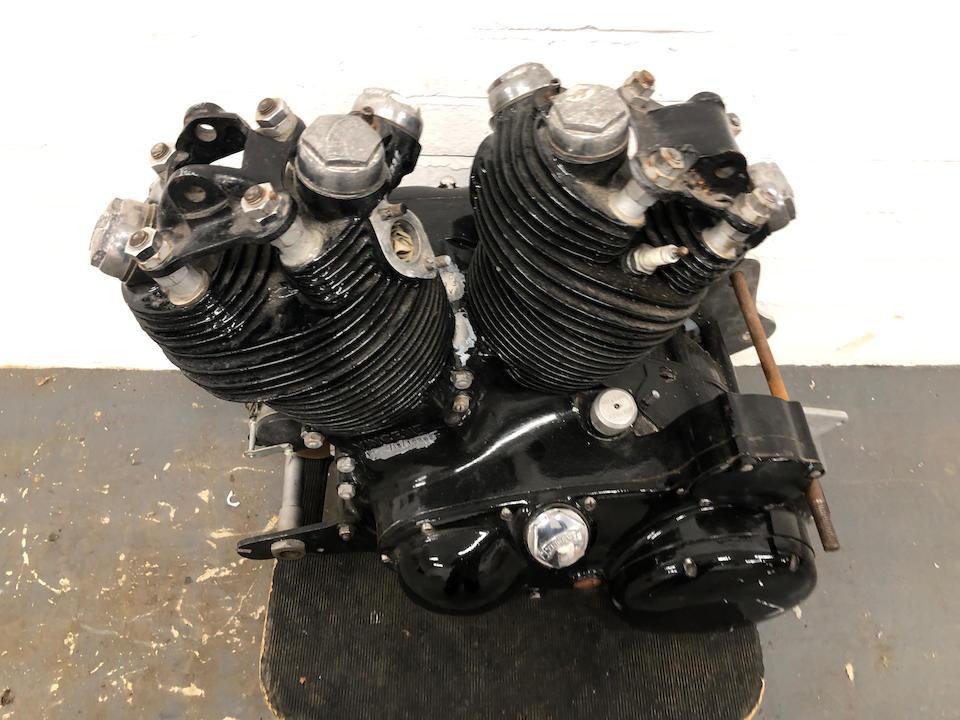 A 1954 Vincent 998cc Series-C Black Shadow engine