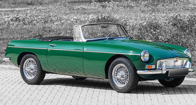 Delivered new to Belgium,1966 MG  MGB Roadster MKI  Chassis no. GHN3L88082 Engine no. MGB-U-H 39782