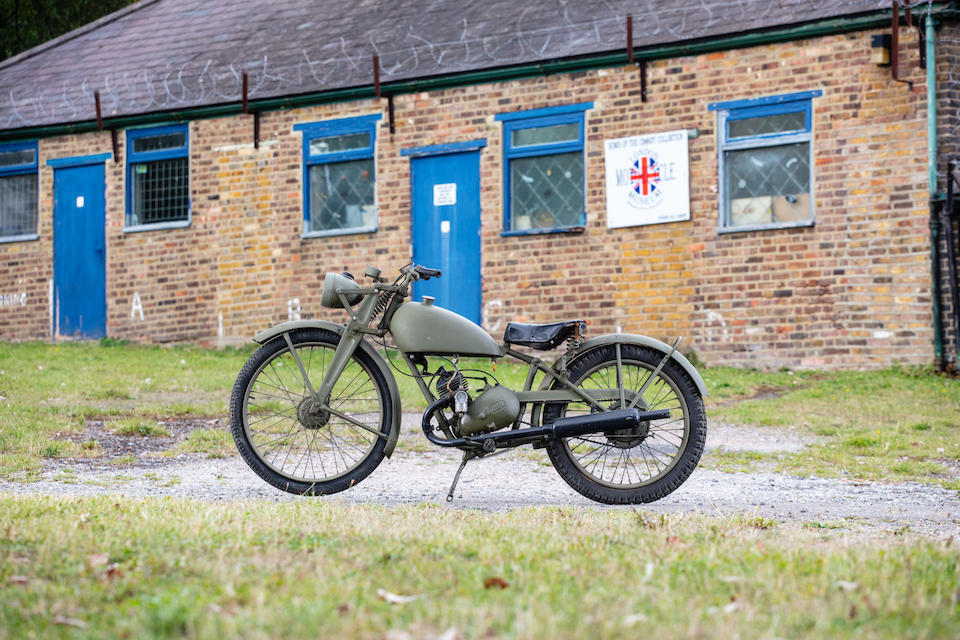 c.1942 James 125cc Military Lightweight Motorcycle Frame no. 5510 Engine no. AAA.24628A