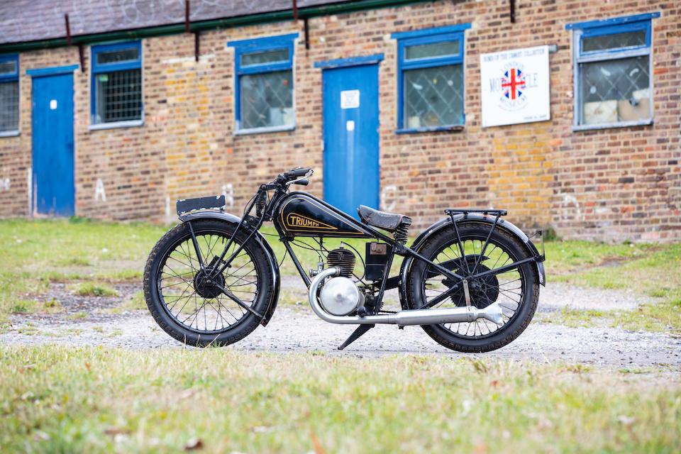 1930 Triumph 175cc Model X Frame no. X4043 Engine no. Z7016
