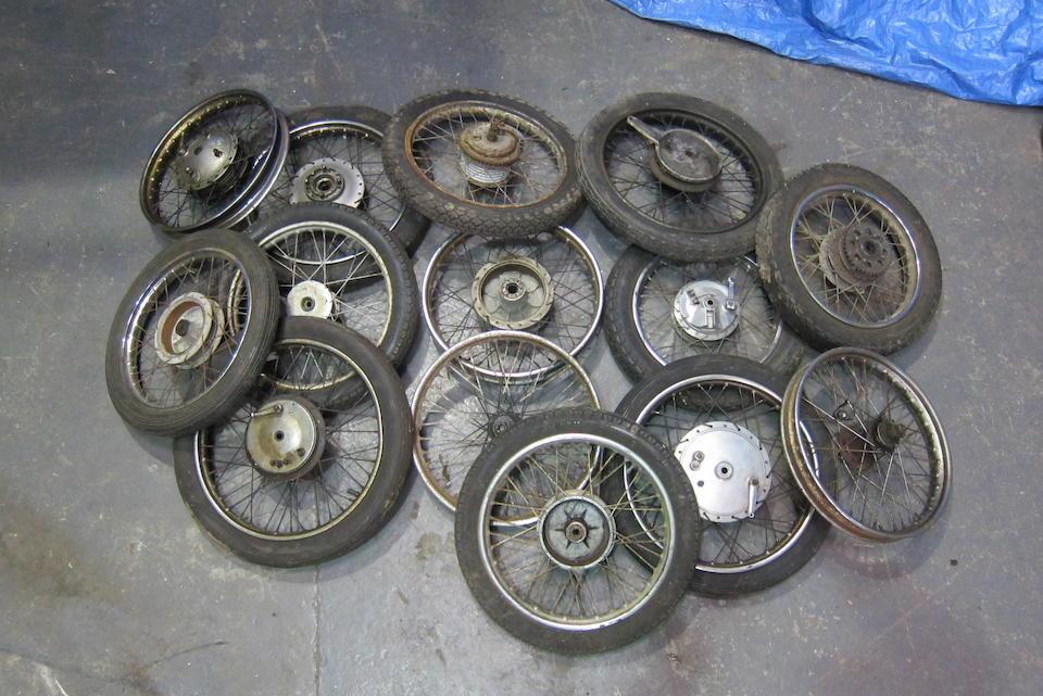 A quantity of wheels  ((Qty))