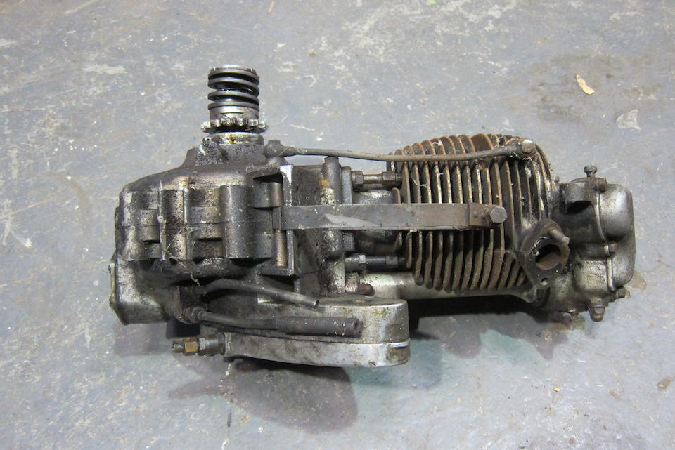 A BSA B31 single cylinder engine