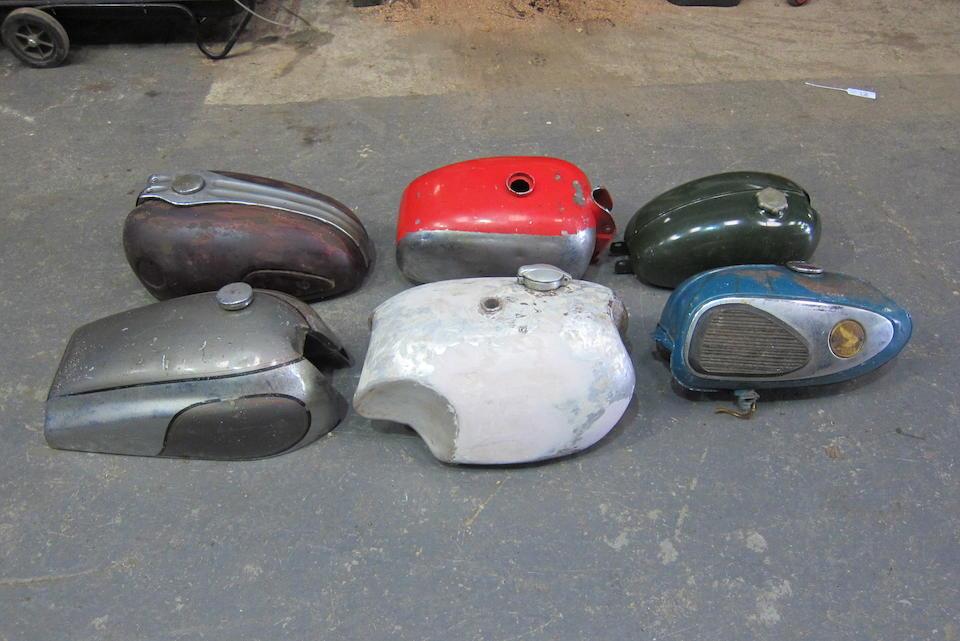 Six petrol tanks  ((6))
