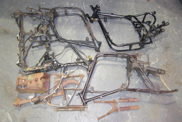 A quantity of motorcycle frames and associated parts  ((Qty))