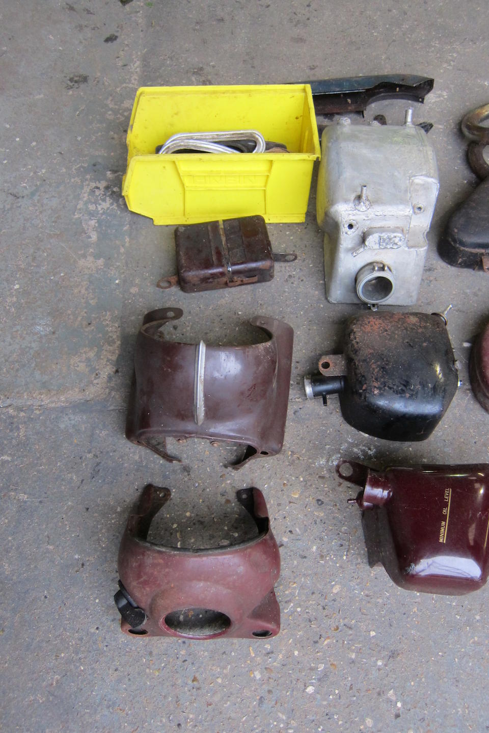 A quantity of mainly motorcycle tin ware  ((Qty))
