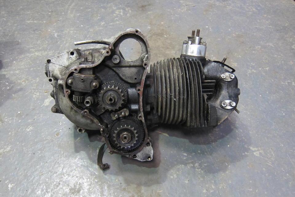 A Norton Twin cylinder engine