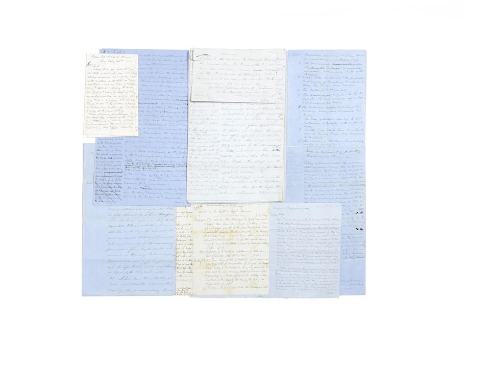 A collection of seven documents relating to Maharajah Duleep Singh, written by his guardian, Dr John Login, as a record of events, of the details of the treaties with the Sikh nation, the financial settlements of the Maharajah's affairs, and his conversion to Christianity England, the earliest dated July 1854, the latest shortly after January 1860(7)