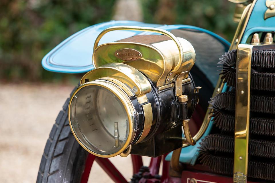 """Le Papillon Bleu"", Ex-Chevalier René de Knyff, and Leslie Bucknall, present ownership for 25 years,1901 Panhard-Levassor 7hp Twin-Cylinder Four-Seater Rear-Entrance Tonneau  Chassis no. 3010"