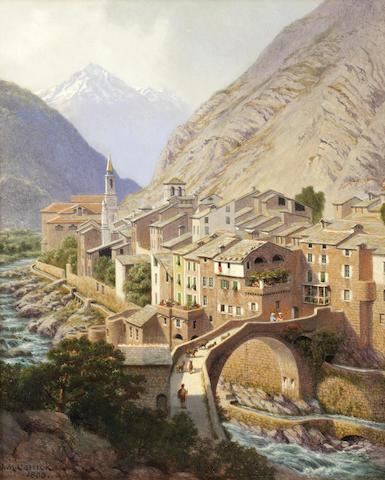 John Mulcaster Carrick (British, 1833-1896) Breil-sur-Roya in the Alps