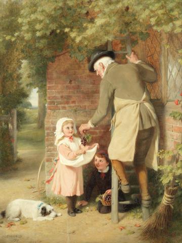 George Bernard O'Neill (British, 1828-1917) Picking grapes