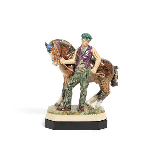 Charles Vyse (British, 1882-1971) 'The Horse Fair': A Chelsea Pottery Model, introduced in 1934