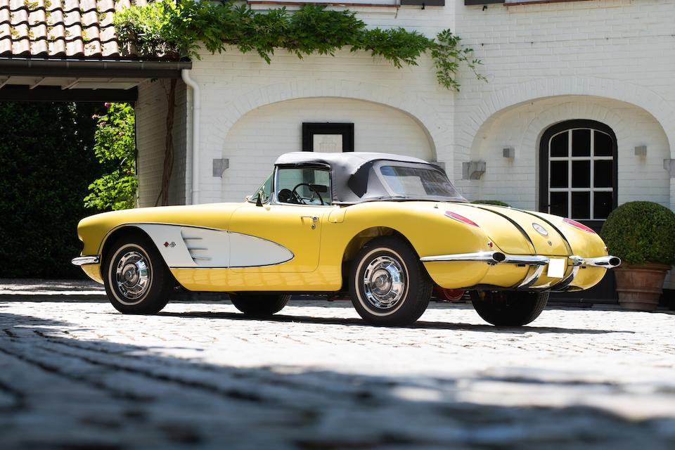 Offered from a private Belgian-Swiss collector,1958  Chevrolet Corvette Convertible  Chassis no. J58S102481