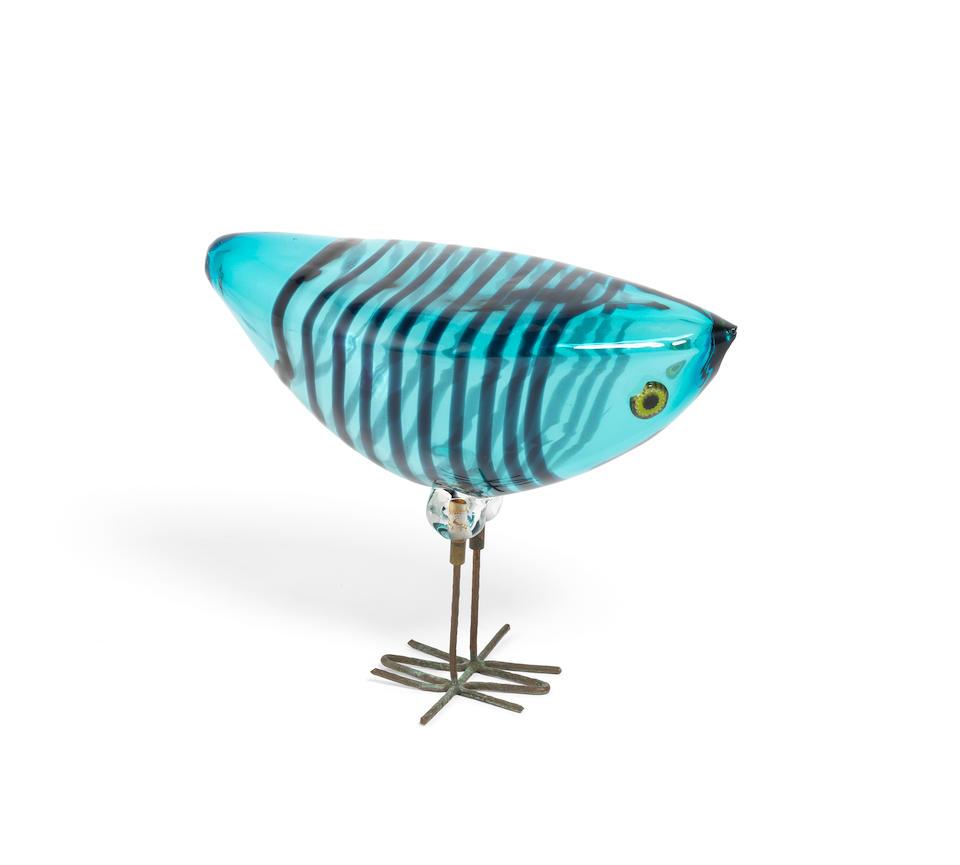 Allessandro Pianon (Italian, 1931-1964) for Vetreria Vitosi A 'Pulcini' Glass Bird, circa 1962