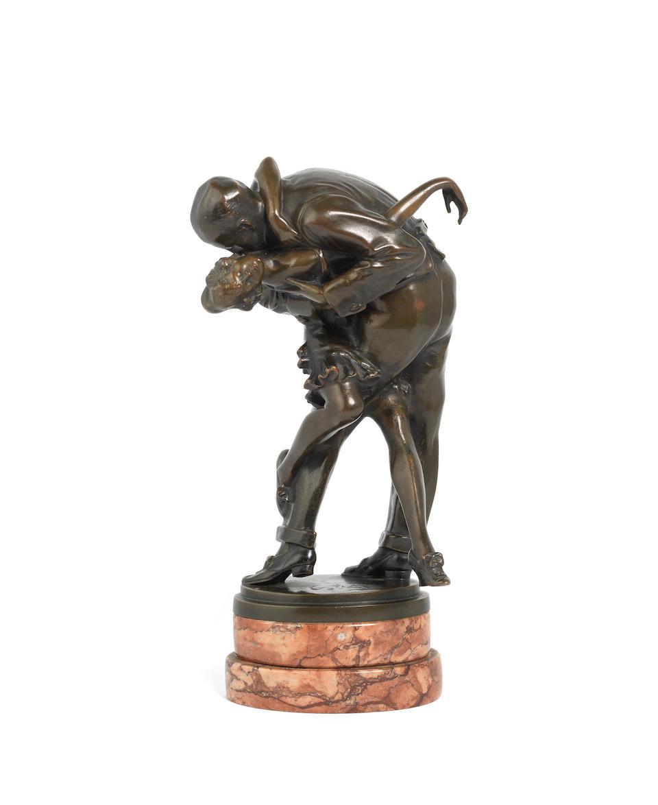 Bruno Zach (Austrian, 1891-1934) An Art Deco Erotic Patinated Bronze Study of a Dancing Couple, circa 1925
