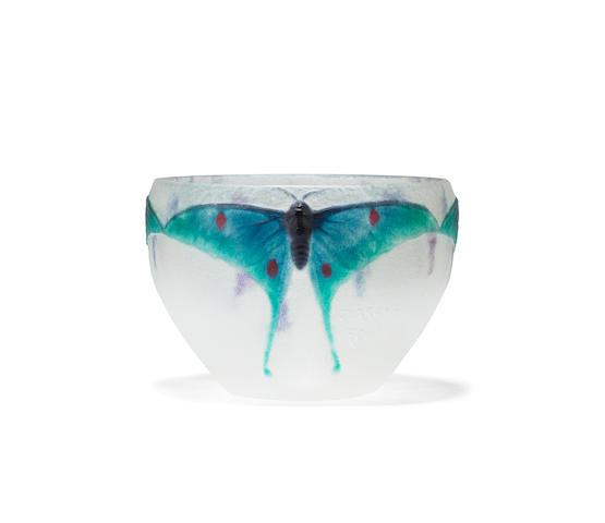 Gabriel Argy-Rousseau (French, 1885-1953)  'Butterflies': A Pâte de Verre Bowl, designed 1915