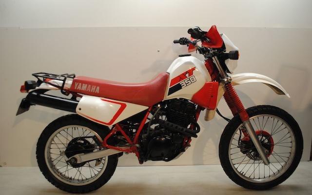 1986 Yamaha XT 350 Frame no. 030268 Engine no. 030268