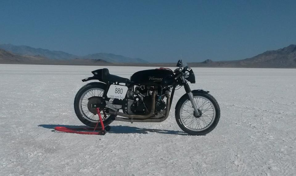 Property of Eric Patterson, AMA speed record holder,c.1960 Viscount 1,000cc Frame no. TS10 Engine no. F10AB/1B/7470
