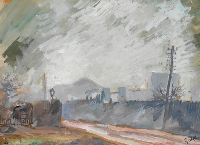 Robert Rafailovich Falk (Russian, 1886-1958) Street Scene
