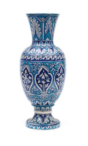 A Multan underglaze-painted pottery vase North India, 19th Century