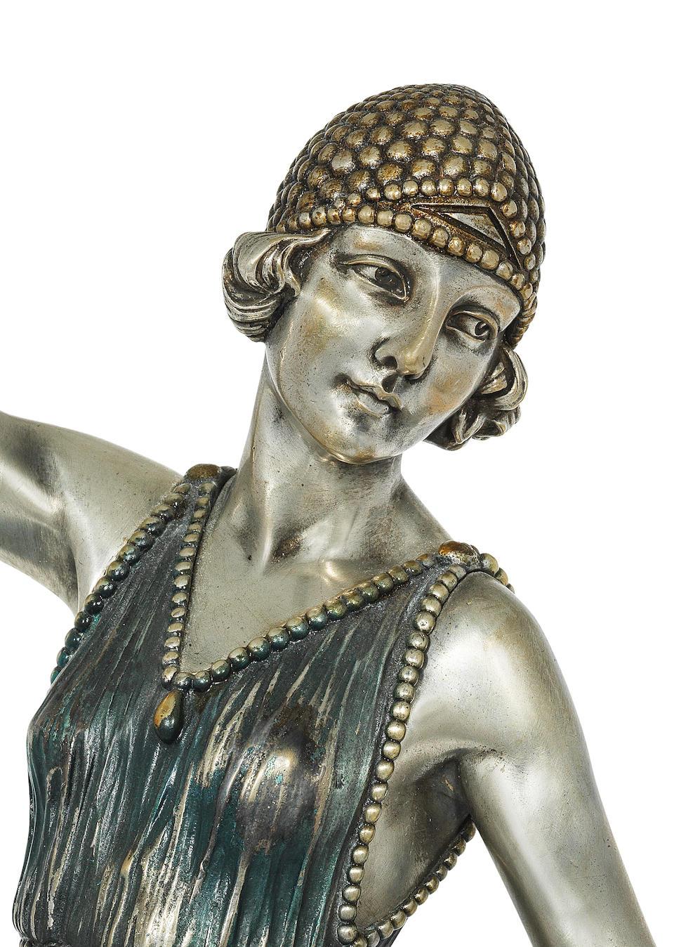 Demetre Chiparus (Romanian, 1886-1947) 'Ballet Russe': A Rare Art Deco Patinated Bronze Figure, circa 1925