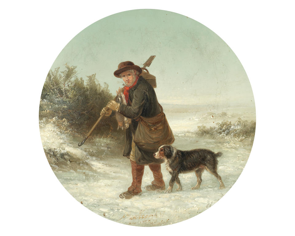 Thomas Smythe (British, 1825-1906) Man's best friend; a pair  each 35.5 x 35.5cm (14 x 14in).(2)