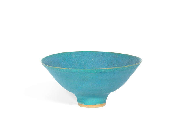 Dame Lucie Rie (British, Austrian 1902-1995) A Stoneware Flaring Footed Bowl, circa 1980