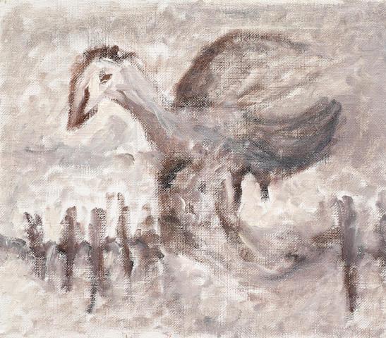 Vladimir Igorevich Yakovlev (Russian, 1934-1998) Composition with a bird unframed
