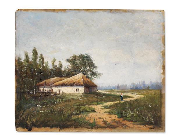 Nikolai Ivanovich Kravchenko (Russian, 1867-1937) Summer day unframed