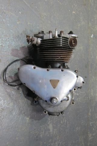 A Triumph Twin cylinder engine