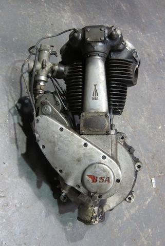 A BSA single cylinder engine