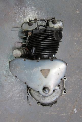 A Triumph Twin cylinder engine