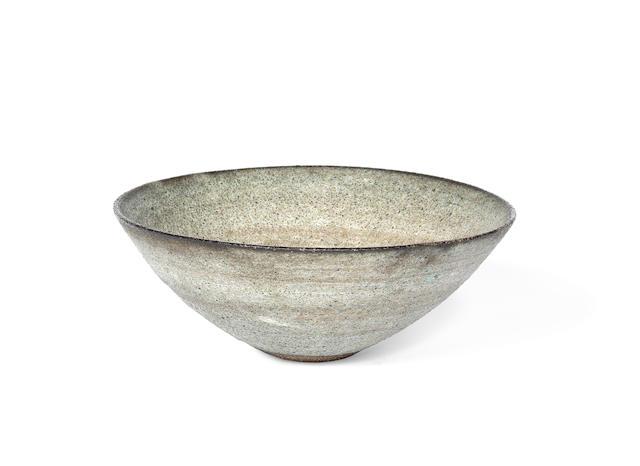 Dame Lucie Rie (British, Austrian 1902-1995) A Curved Stoneware Bowl, circa 1975/80