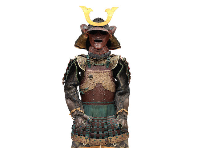 A Kawazutsumi Do Tosei Gusoku Armour Edo period (1615-1868), late 19th century; the helmet by Haruta Muneyoshi (13)