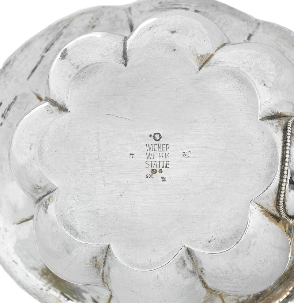 Josef Hoffmann (Austrian, 1870-1956) for the Wiener Werkstätte A Silver and Ivory Tea Service, designed 1918