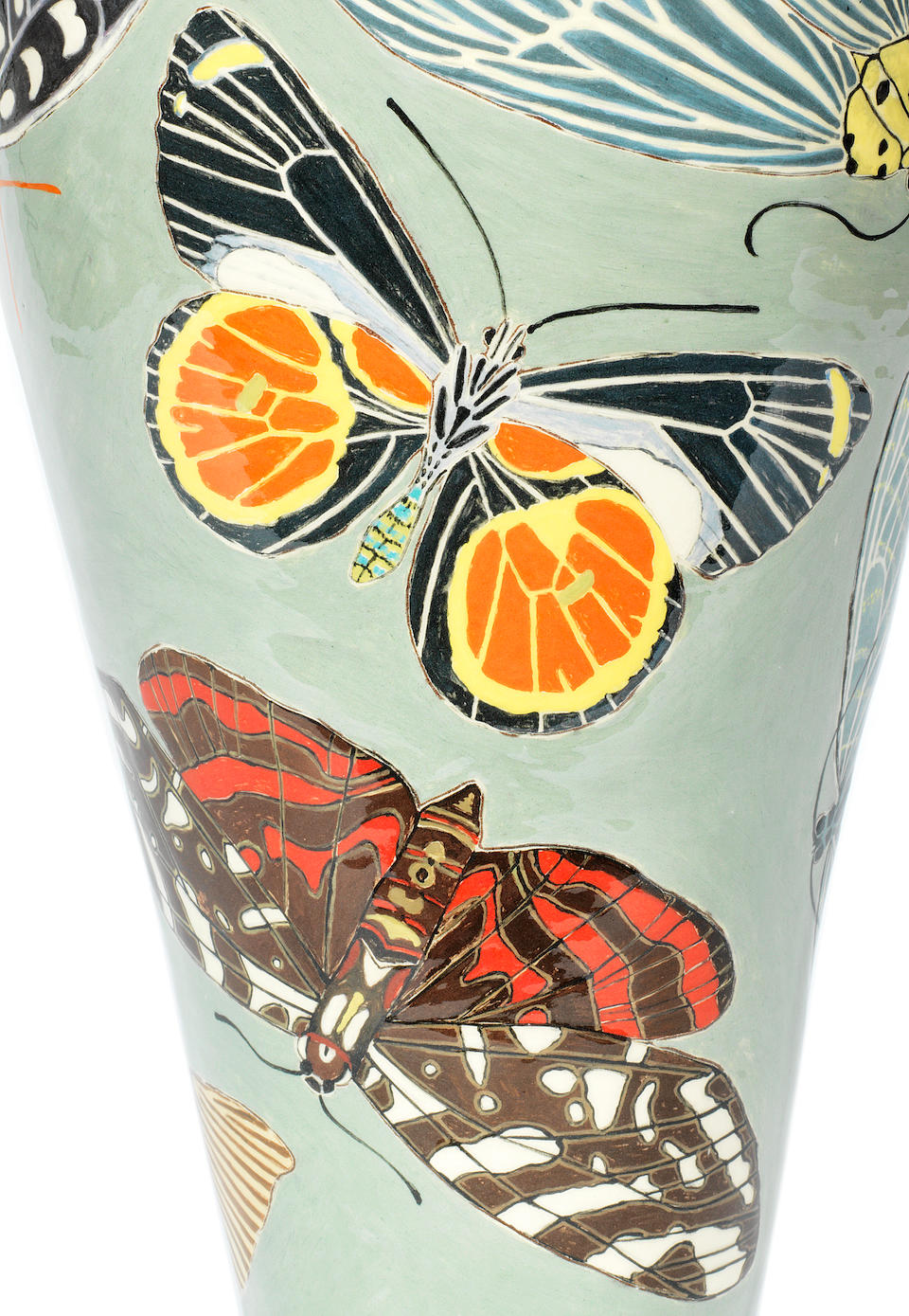 Kitty Shepherd (British, born 1960) 'Mariposa Nocturna': A Large Slipware Vase, executed 2019