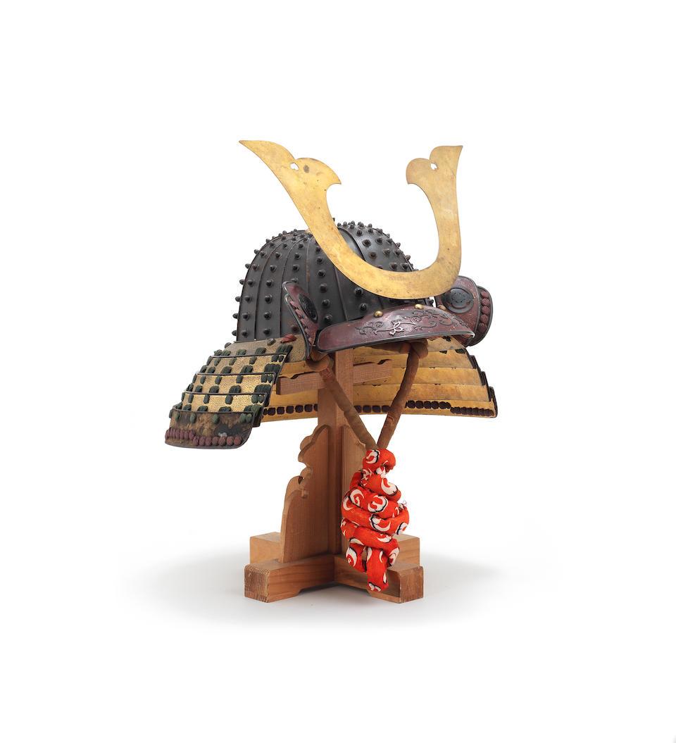 A Kawazutsumi Do Tosei Gusoku Armour Edo period (1615-1868), late 19th century; the helmet by Haruta Muneyoshi (13)