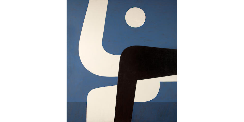 Yiannis Moralis (Greek, 1916-2009) Full Moon M  195 x 177.5 cm.