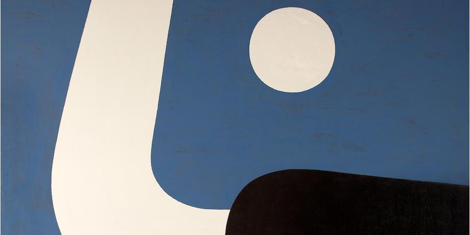 Yiannis Moralis (Greek, 1916-2009) Full Moon M  195 x 177.5 cm.