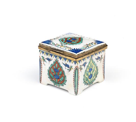 A Samson Kutahya style porcelain inkwell France, 19th Century
